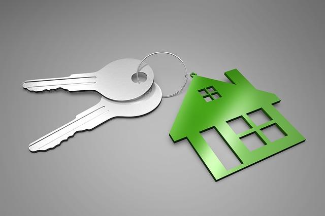 Schlüsselanhänger Haus mit Schlüsseln