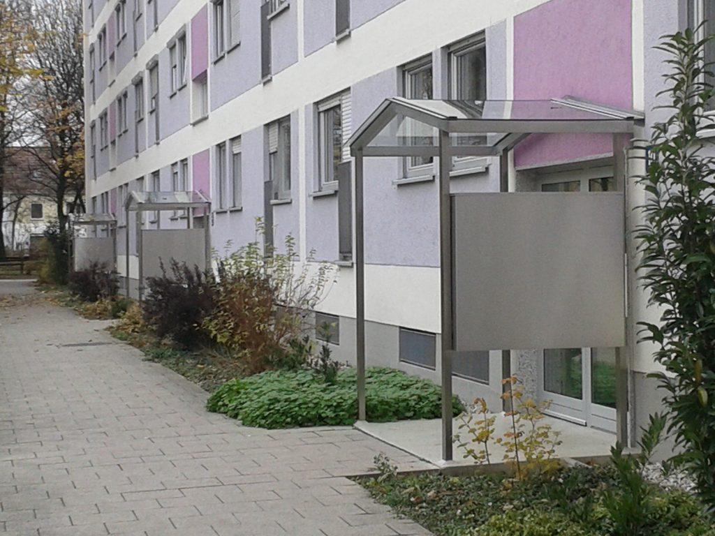Vorderansicht einer vermieteten Immobilie in München