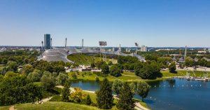 Olympiastadium mit Park