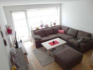 Wohnzimmer einer verkauften Wohnung in Lerchenau