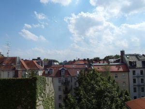 Ausblick von einer vermittelten Wohnung in München Max-Vorstadt
