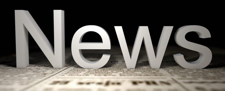 Das Wort News auf einer Zeitung
