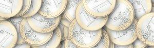 Euromünzen zur Visualisierung des Wertes