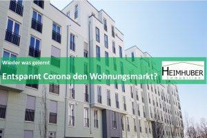 Eigenes Bild passend zum Artikel: Wieder was gelernt Entspannt Corona den Wohnungsmarkt?