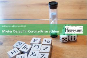 Eigenes Bild zum Artikel Zahlungsverpflichtung bleibt Mieter: Darauf in Corona-Krise achten
