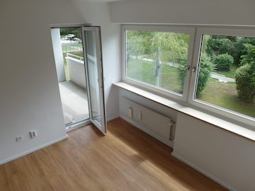 Wohnzimmer des Immobilienangebotes in München Lerchenau